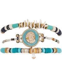 Hipanema Bracelets Bracelet Tomahawk turquoise S - Bleu