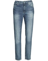 G-Star RAW Jeans 3301 HIGH STRAIGHT 90'S ANKLE WMN - Azul