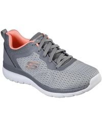Skechers - BOUNTIFUL QUICK PATH GRIS Chaussures - Lyst