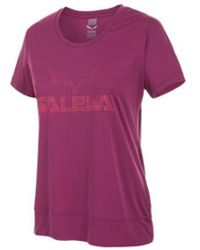 Salewa Puez Mountain Dry W S/s Tee 25646-6520 Women's T Shirt In Pink