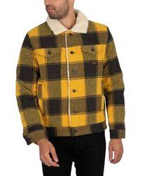 Superdry Herren-Jacke Highwayman Sherpa-Trunkerjacke aus Wolle - Mehrfarbig