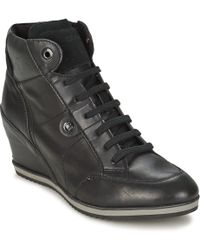 Geox - D Illusion Women's Shoes (high-top Trainers) In Black - Lyst