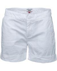 Tommy Hilfiger Short chino blanc pour femme femmes Short en blanc