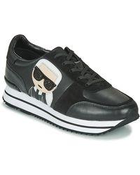 Karl Lagerfeld Lage Sneakers Velocita Ii Karl Ikonic Meteor - Zwart