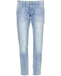Le Temps Des Cerises Jeans boyfriend NISRINE - Bleu