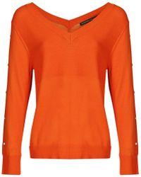 Mado Et Les Autres - Polyamide Viscose Knit Jumper Anais O Orange Woman Spring/summe Women's Jumper In Orange - Lyst