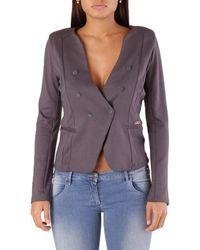 Met Wo Blazer In Purple Jacket