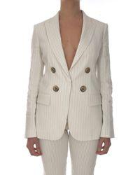 Pinko 1G15PA-8387 veste Femme blanc noir Veste - Neutre