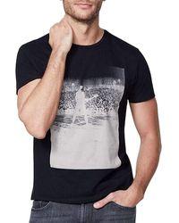 IKKS Tee Shirt Manches Courtes Concert Rock T-shirt - Noir