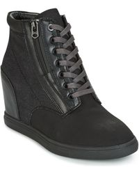 G-Star RAW - Pristel Zip Wedge Women's Shoes (high-top Trainers) In Black - Lyst