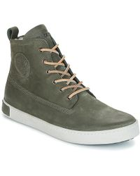 Blackstone - Gaimai Men's Shoes (high-top Trainers) In Green - Lyst