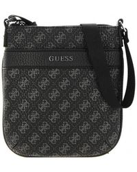 Guess CITY LOGO MINI FLAT CROSSBODY Sacoche - Noir