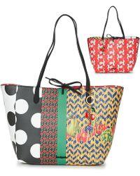 Desigual - Lola Pacth Capri Women s Shopper Bag In Multicolour - Lyst 8d6c326fce