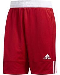 adidas Short Pantalón corto Reversible 3G Speed - Rojo