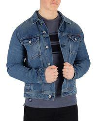 Superdry - Men's Highwayman Trucker Jacket, Blue Men's Denim Jacket In Blue - Lyst