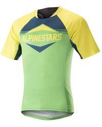 Alpinestars 2018 Mesa Short Sleeved Mtb Jersey T Shirt - Yellow