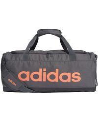 adidas Bolsa de deporte Linear Logo Duffel S Bag - Gris