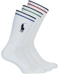 Polo Ralph Lauren Kousen En Sokken 3pk Bpp-socks-3 Pack - Wit