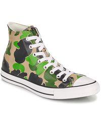 Converse Zapatillas altas CHUCK TAYLOR ALL STAR ARCHIVE PRINT HI - Verde