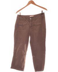 Esprit Pantacourt Femme 36 - T1 - S Pantalon - Gris