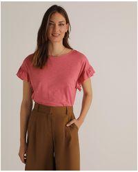 Woman El Corte Inglés 12E64158L T-shirt - Rose