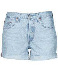 Levi's Korte Broek Levis 501 Rolled Short - Blauw