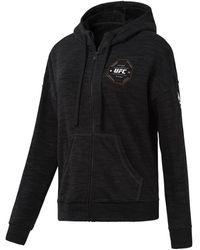 Reebok Ufc Fg Full-Zip Hoodie Sweat-shirt - Noir