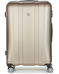David Jones Chauvetto 107l Hard Suitcase - Metallic