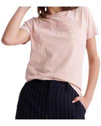 Superdry T-shirt VL Outline Entry - Rose