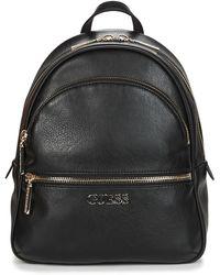 Guess , hattan Small Backpack para Mujer, Negro, Talla única