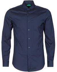 Benetton Camisa manga larga 5R7Y5QKU8-016 - Azul