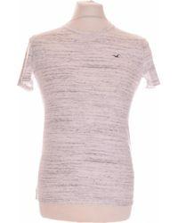 Hollister T-shirt Manches Courtes 34 - T0 - Xs T-shirt - Blanc