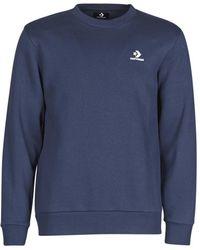 Converse Sweater Emb Crew Bb - Blauw