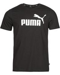 PUMA T-Shirt Ess Logo Tee - Nero