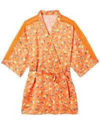 Pommpoire Kimono imprimé orange Nouméa Pyjamas / Chemises de nuit