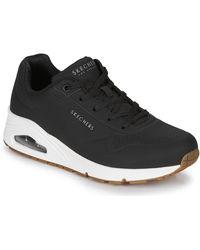 Skechers Lage Sneakers Uno Stand On Air - Zwart