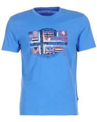 Napapijri - Sey Men's T Shirt In Blue - Lyst