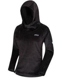 Regatta Wo Halia Velour Hoodie Sweatshirt - Black
