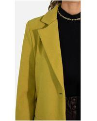 Kebello Manteau Manteau droit boutonné F Jaune - Multicolore