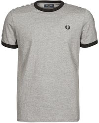 Fred Perry TAPED RINGER T-SHIRT - Gris