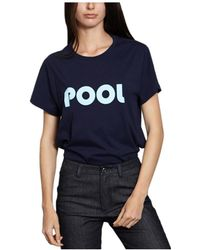 French Trotters - Mary Pool T-shirt 39877 White Women's T Shirt In White - Lyst