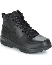 4eb45452e4825 Nike - Manoa Leather Boot Men s Mid Boots In Black - Lyst