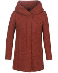 ONLY ONLSEDONA femmes Manteau en rouge