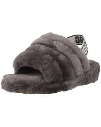 UGG Flat Fur Sandals - Grijs