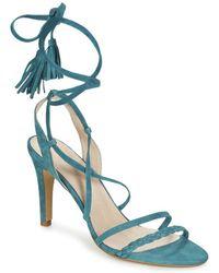 IKKS - Sandale Talon Ponpon Women's Sandals In Blue - Lyst