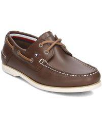 Marron Boatshoe Hommes Chaussures En Classic Leather v0wNm8n