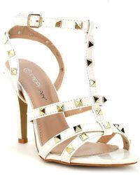 Cendriyon Sandales Blanc Chaussures Femme Sandales