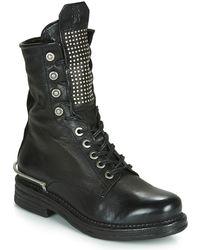 A.s.98 BRET METAL Boots - Noir