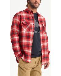 Burton Chemise Men's Brighton Flannel Shirt - Rouge