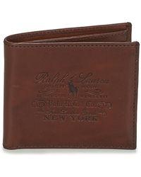 Polo Ralph Lauren Portemonnees Her Billfold-wallet-smooth Leather - Bruin